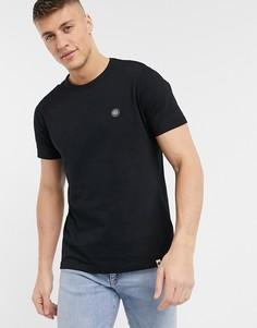 Черная футболка с логотипом Pretty Green-Черный