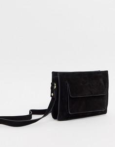 Замшевая сумка через плечо Urbancode-Черный