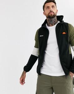 Черная флисовая куртка с короткой молнией ellesse Sotto-Черный
