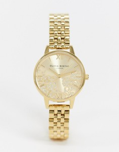 Золотистые наручные часы Olivia Burton OB16MV105-Золотой