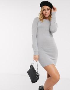 Серое платье-джемпер с круглым вырезом Brave Soul-Серый