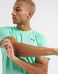 Мятно-зеленая футболка Puma-Зеленый