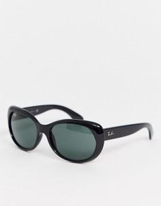 Черные круглые солнцезащитные oversize-очки Ray-Ban 0RB4325-Черный