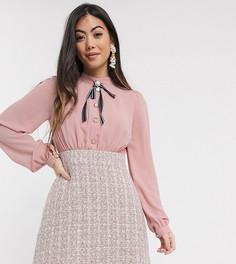 Розовое платье два в одном Paper Dolls Petite-Розовый
