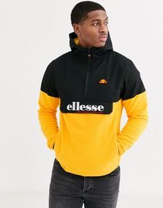 Оранжевая флисовая куртка на молнии 1/4 ellesse Esine-Оранжевый