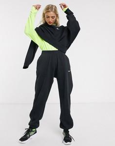 Черные oversized-джоггеры от комплекта с логотипом-галочкой Nike-Черный
