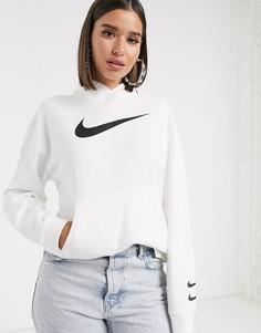 Oversized-худи белого цвета с логотипом Nike Triple-Белый