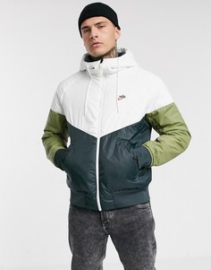 Двусторонняя утепленная куртка на молнии с капюшоном (хаки/зеленый) Nike