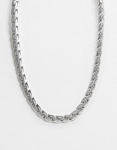 Серебристая массивная цепочка Reclaimed Vintage inspired эксклюзивно для ASOS-Серебряный