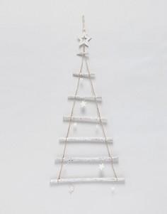 Деревянное новогоднее украшение со светодиодами Sass & Belle-Мульти