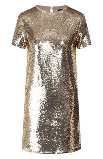 Платье с пайетками Emporio Armani