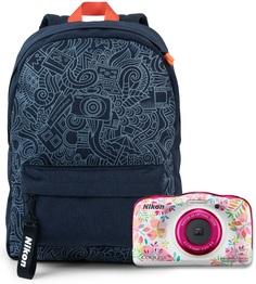 Цифровой фотоаппарат Nikon Coolpix W150 FLOWER BACKPACK KIT