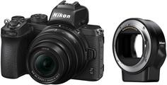 Беззеркальная фотокамера Nikon Z 50+NIKKOR Z DX 16-50mm VR+FTZ (черный)