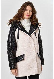Комбинированная шуба из овечьей шерсти и текстиля Virtuale Fur Collection