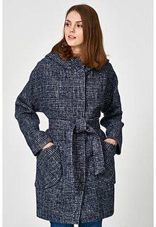 Полушерстяное пальто с капюшоном Electrastyle
