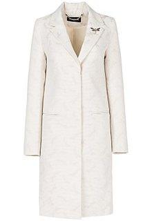 Фактурное пальто с рисунком La Reine Blanche