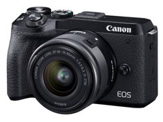 Фотоаппарат Canon EOS M6 Mark II Kit EF-M 15-45mm f/3.5-6.3 IS STM Black + EVF EU26