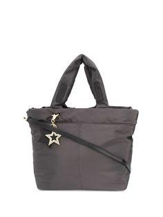 See by Chloé дутая сумка-тоут с нашивкой-логотипом