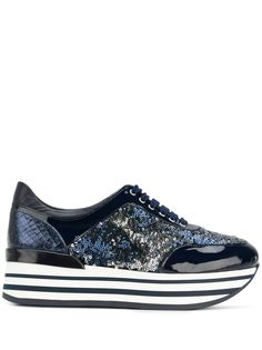 Baldinini кроссовки на платформе со шнуровкой