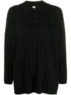 Totême рубашка-поло свободного кроя с длинными рукавами