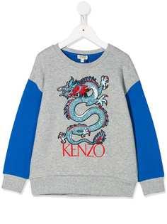 Kenzo Kids футболка с длинными рукавами и принтом Dragon
