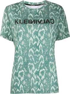 Calvin Klein рубашка со змеиным принтом