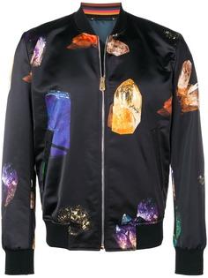 Paul Smith куртка-бомбер с принтом драгоценных камней