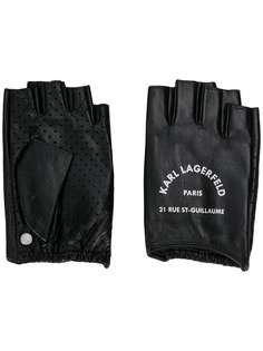 Karl Lagerfeld перчатки Rue St Guillaume без пальцев