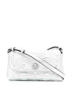 Emporio Armani стеганая сумка на плечо с эффектом металлик