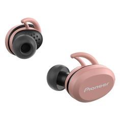 Наушники с микрофоном PIONEER SE-E8TW-P, Bluetooth, вкладыши, розовый/черный