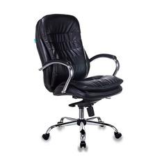 Кресло руководителя БЮРОКРАТ T-9950, на колесиках, искусственная кожа, черный [t-9950/black-pu]