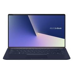 """Ноутбук ASUS Zenbook UX433FAC-A5113R, 14"""", IPS, Intel Core i7 10510U 1.8ГГц, 16Гб, 512Гб SSD, Intel UHD Graphics 620, Windows 10 Professional, 90NB0MQ5-M03870, синий"""