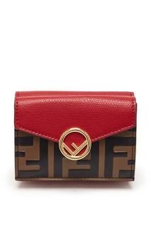 Красно-коричневый бумажник F is Fendi