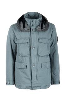 Серая куртка с накладными карманами Stone Island
