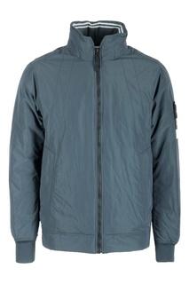 Серая куртка из смесовой ткани Stone Island