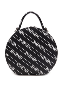 Круглая сумка с логотипами Vanity Balenciaga