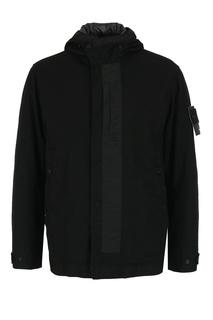 Черная куртка с логотипом Stone Island