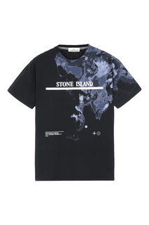 Черная футболка прямого кроя Stone Island