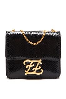 Черная сумка из змеиной кожи Karligraphy Fendi