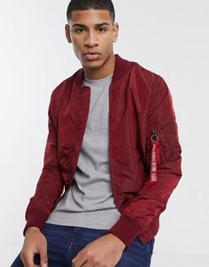 Нейлоновая куртка с карманом MA-1 от Alpha Industries-Красный