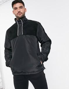Куртка с отделкой искусственным мехом Brave Soul-Черный