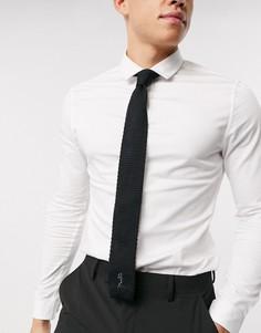 Строгий трикотажный галстук Religion-Черный