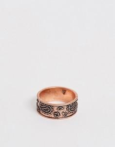 Кольцо-печатка с ацтекским принтом бронзового цвета Classics 77-Коричневый