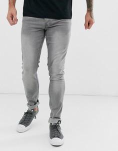 Синие джинсы слим Lee Luke-Синий