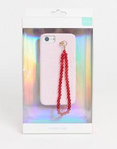 Чехол для iphone 6/6S/7/8 с крокодиловым рисунком Skinnydip-Розовый