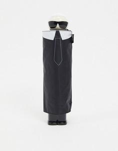 Зонт с принтом Karl Lagerfeld-Черный