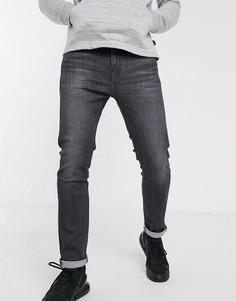 Черные узкие джинсы стретч Levis 510-Серый