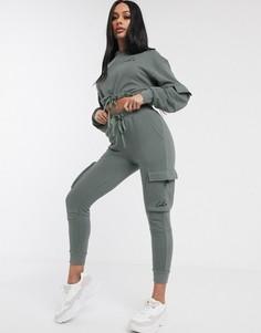 Джоггеры карго цвета хаки The Couture Club-Зеленый