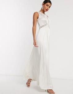 Свадебное платье с кружевной отделкой Ghost-Белый
