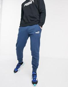 Синие джоггеры с логотипом Puma-Синий